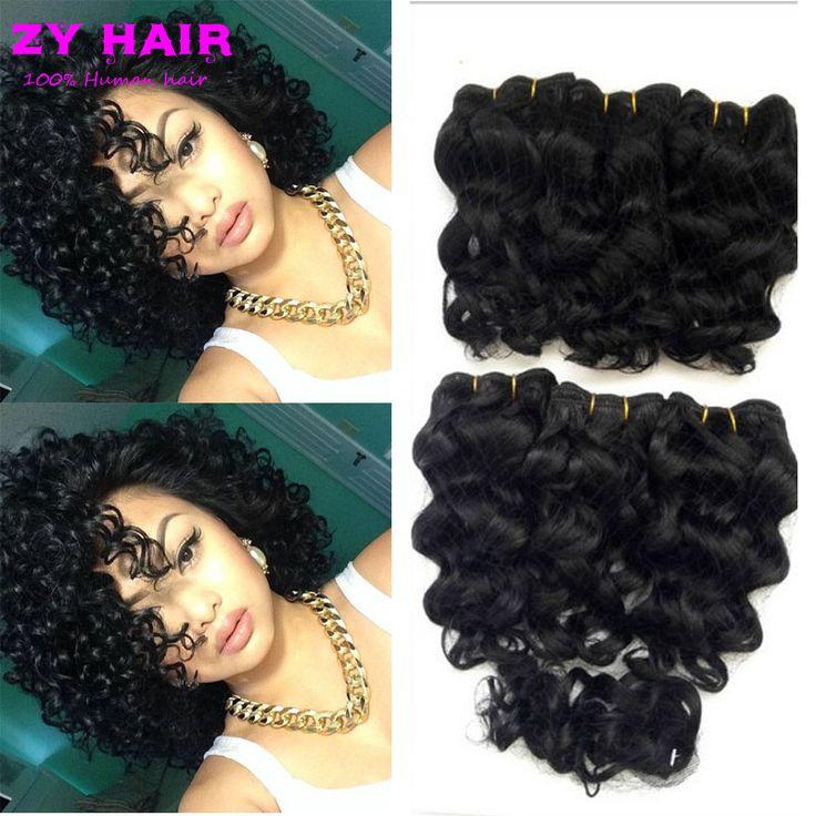 夏安い女性の短い髪織り閉鎖8 '深い波マレーシア髪の深い波閉鎖が付いている短い深いカーリーでclousure