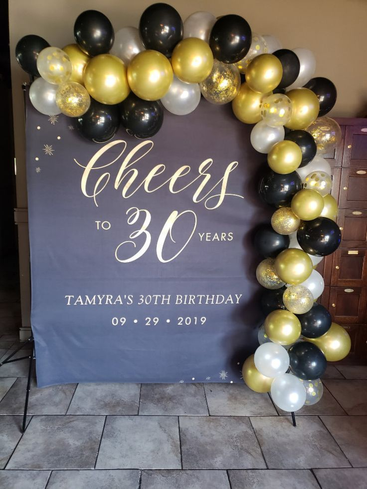 Cheers To 30 Years Gold Black Birthday Party Tapestry Zazzle Com In 2020 30th Birthday Decorations Birthday Party Decorations For Adults 30th Birthday Party Decorations