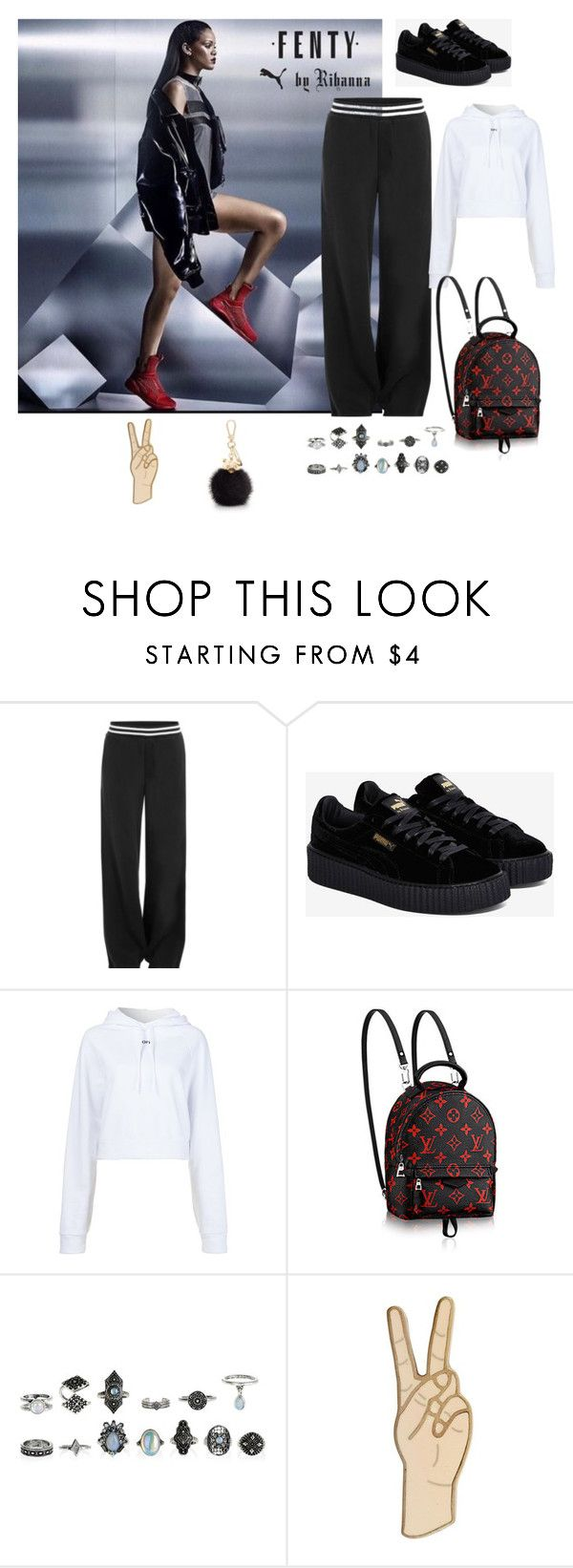 """#Fenty by Rihanna my Idol 💙💜😻"" by joe-khulan on Polyvore featuring Puma, Off-White, Lucky Brand and Furla"