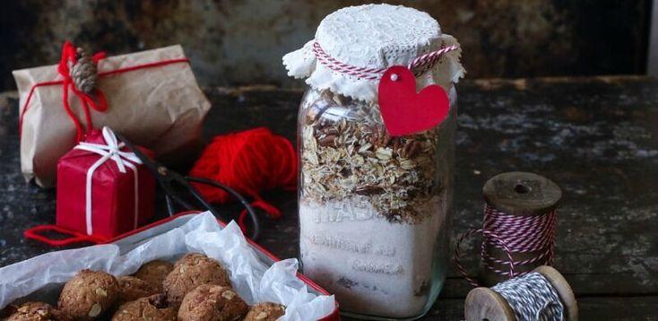Idee regalo: preparato per biscotti all'avena, cocco e noci pecan