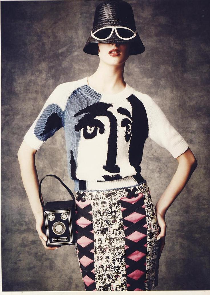 Box Brownie camera bag as featured in Harpers Bazaar Russia
