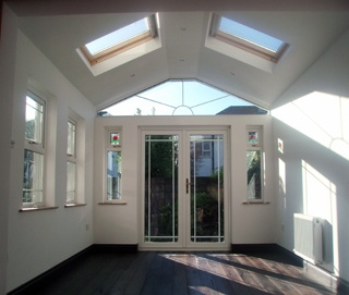 home renovation | home extensions | sunroom | conservatory | Fakro | roof windows | french doors | roof glazing | Velux | building a house extension | home builder | Timber line