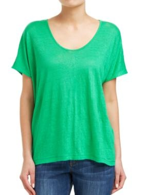 Sussan - Clothing - T-shirts - Linen oversize tee