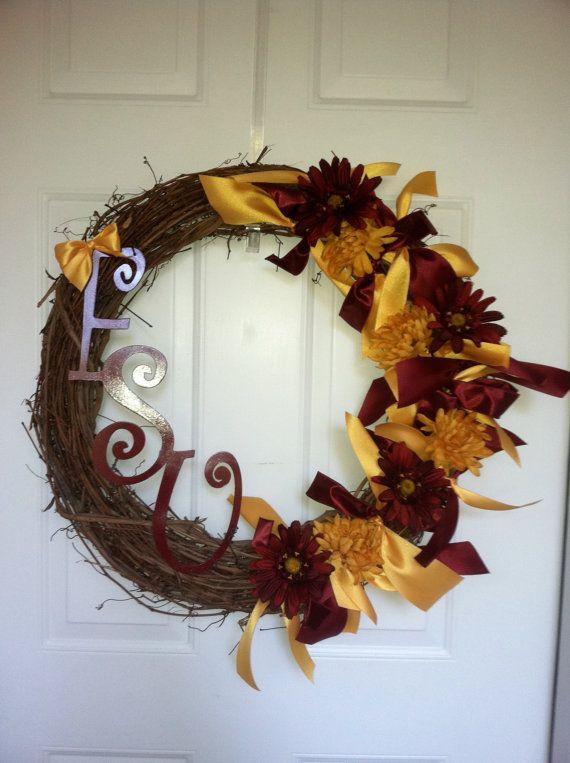 Florida State University FSU Wreath by mountainridgedesigns, $69.00