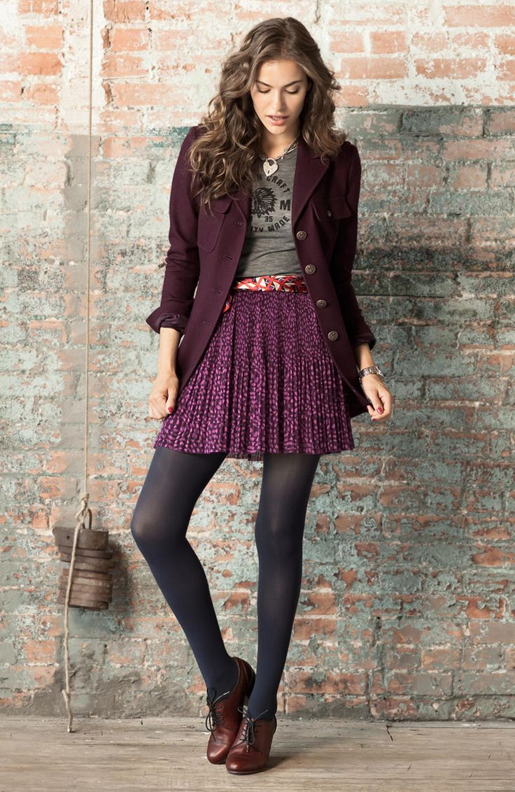 Fossil you make my day!: Brown Oxfords, Fossil Watches, Skirts, Heels Dark, Color, Dark Brown, Fall Outfit, Cute Outfit, Oxfords Heels Outfit
