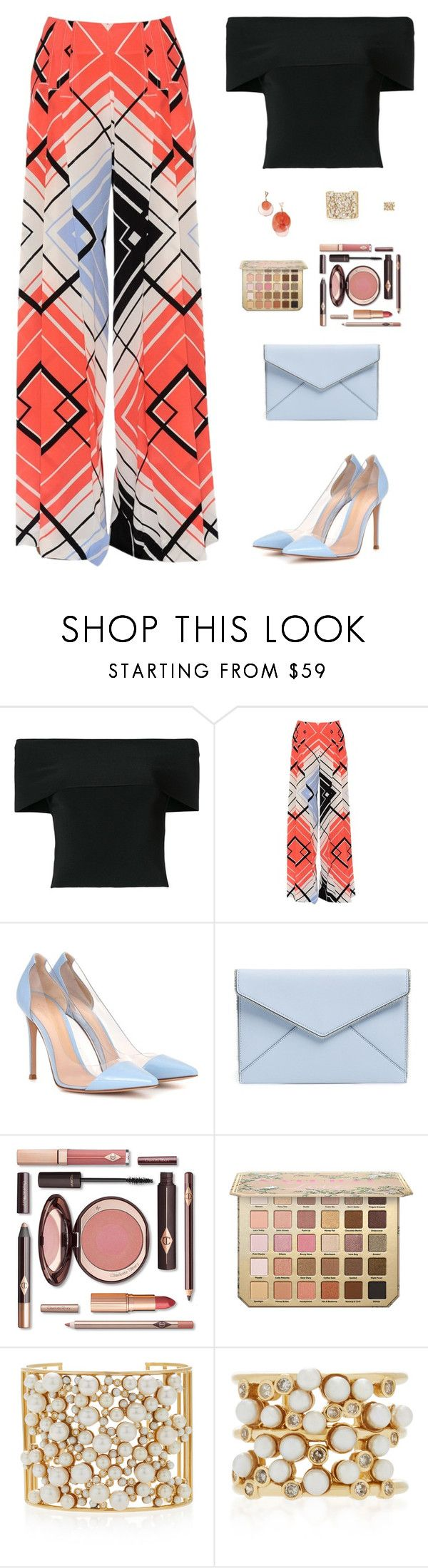 """""""Sin título #4902"""" by mdmsb ❤ liked on Polyvore featuring T By Alexander Wang, Capucci, Gianvito Rossi, Rebecca Minkoff and Nancy Newberg"""