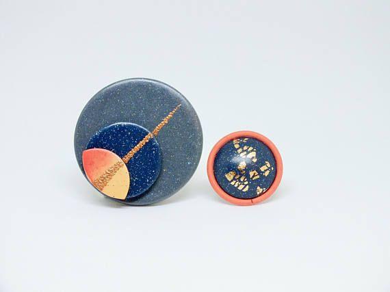 sagittarius star sign pendant matching ring minimalist fimo