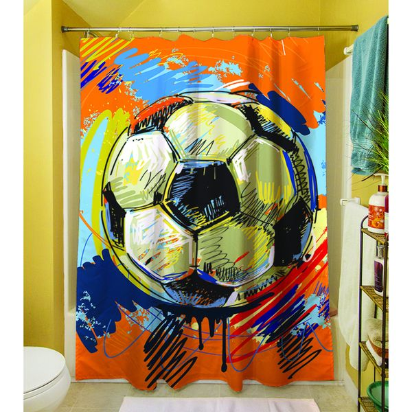 Thumbprintz Soccer Goal Shower Curtain