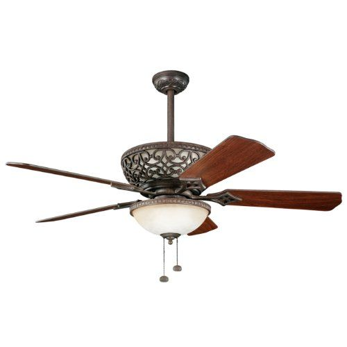 Best Deal Kichler Lighting 300113tz Cortez 52in Ceiling Fan Tannery Bronze Finish With Reversible Blades