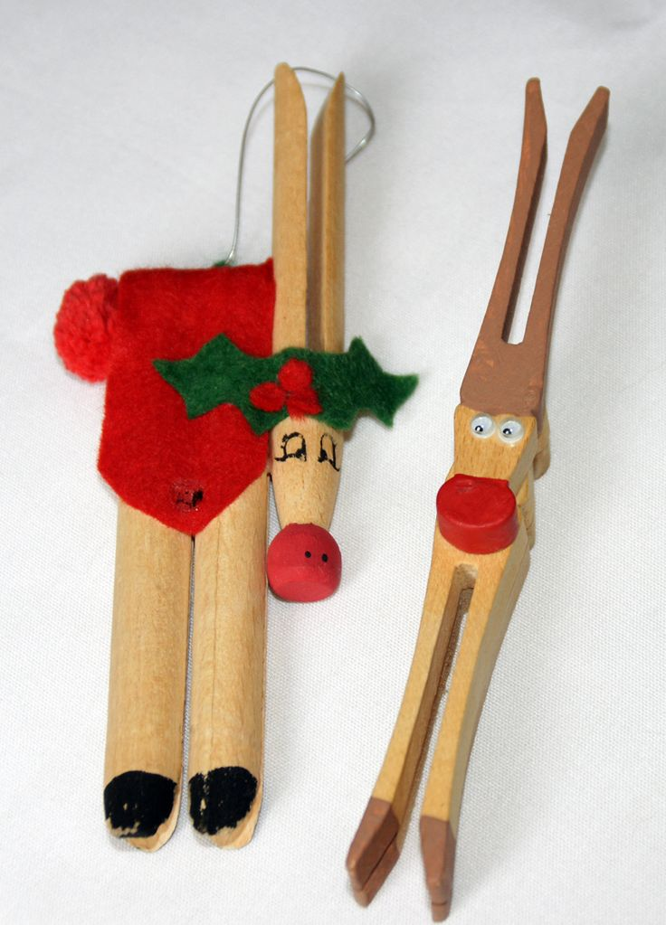 Clothespin Crafts Christmas Part - 36: Christmas Clothespin Craft