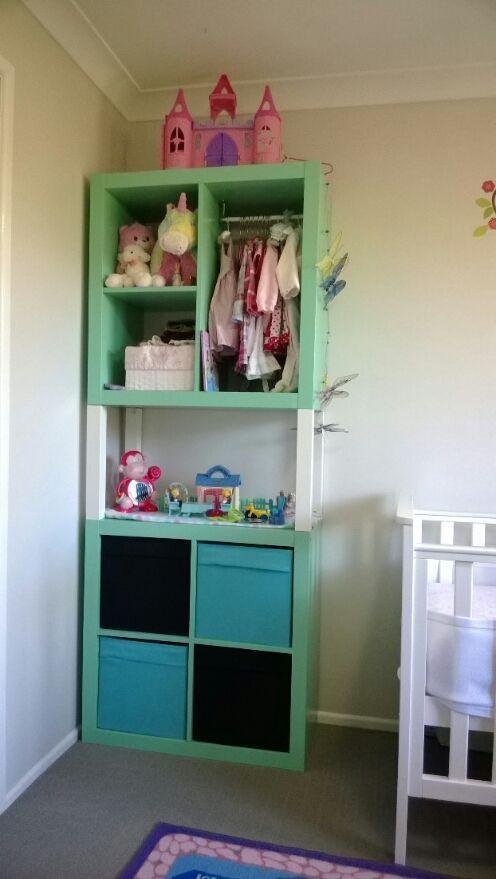 mommo design: IKEA HACKS - Double Expedit wardrobe