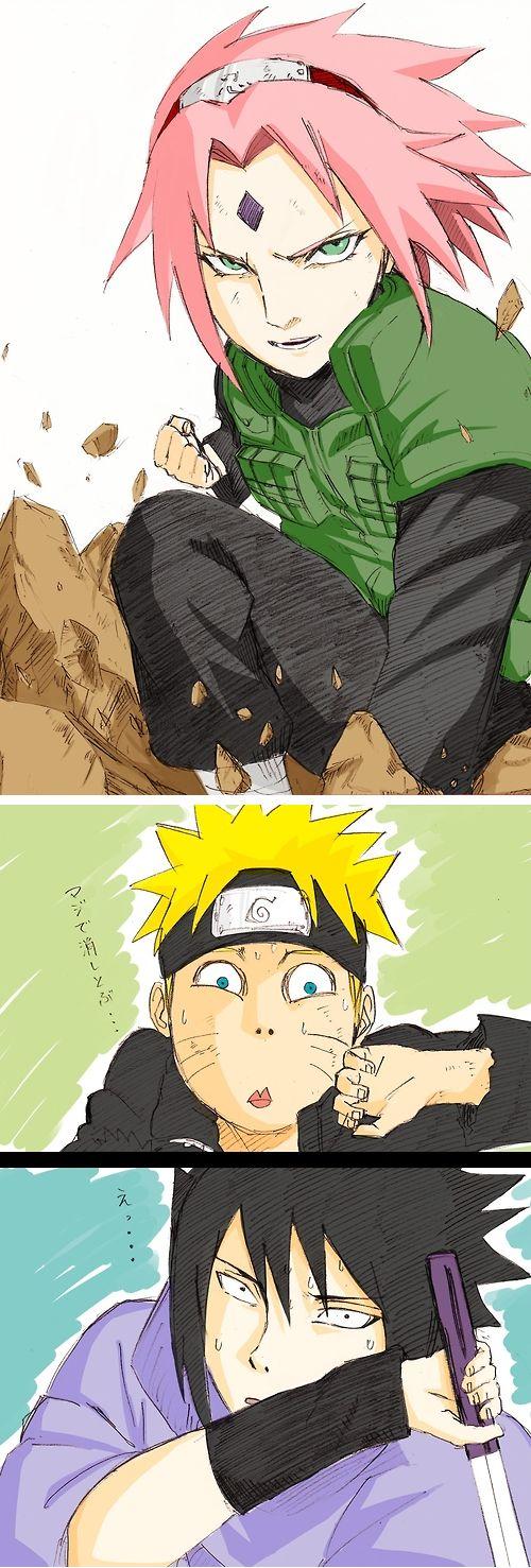 Sakura's strength (I love their reactions! XD)