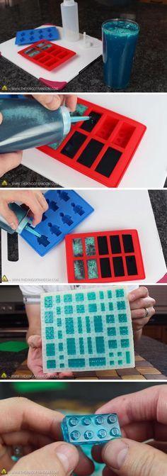Here's how to make gummy Lego bricks!