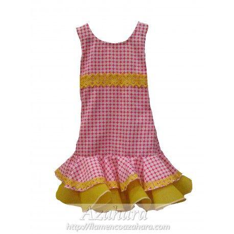 #Vestido  #flamenco para #niña creado por nuestra #diseñadora en #Azahara. #moda #flamenca #Fuengirola