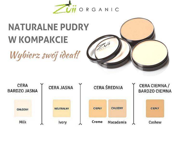 Wybierz idealny odcień pudru Zuii Organic dla swojej cery.