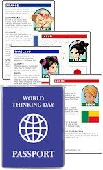 Free printable International Fact Cards fit perfectly into our World Thinking Day Passports. See if your country is available and print fact cards. Leave them on your cultural table for visitors to put in their passports. Free printables available at MakingFriends.com