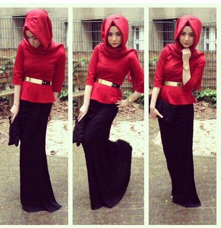 ًso cute turkish red two piece dress set black maxi top