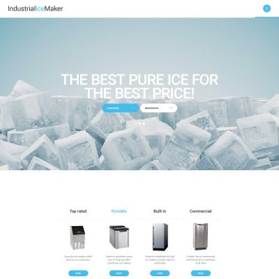 Industrial Ice Maker Parallax Website Template