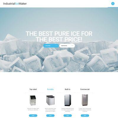 Industrial Ice Maker Parallax Website Template
