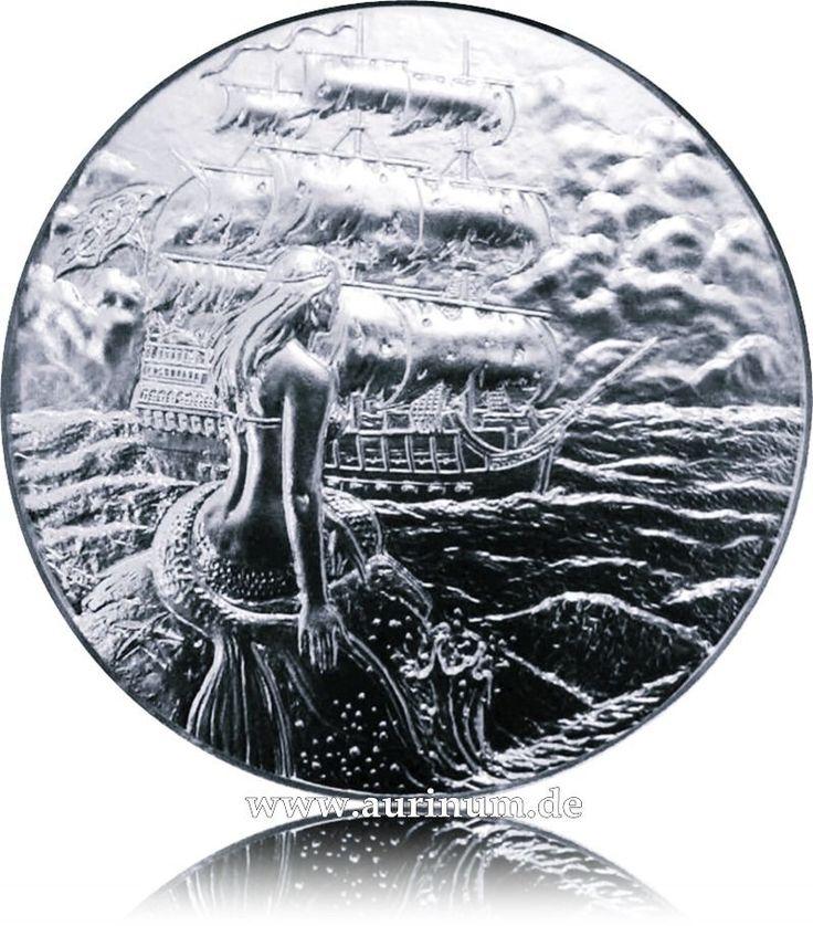 2 Unzen Ultra High Relief  Siren Sirene / The Privateer Silber  999,99
