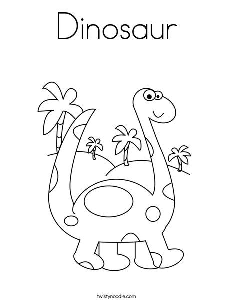 Dinosaur Coloring Page from TwistyNoodle.com