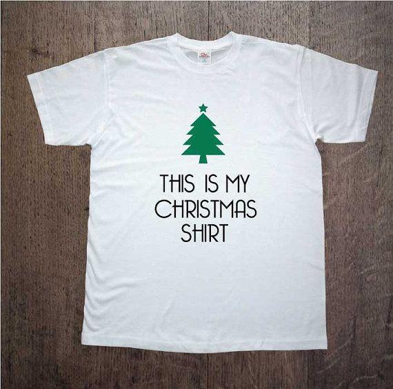 Christmas shirt!This is my christmas shirt! Holiday spirit! Mens clothing! Christmas gift