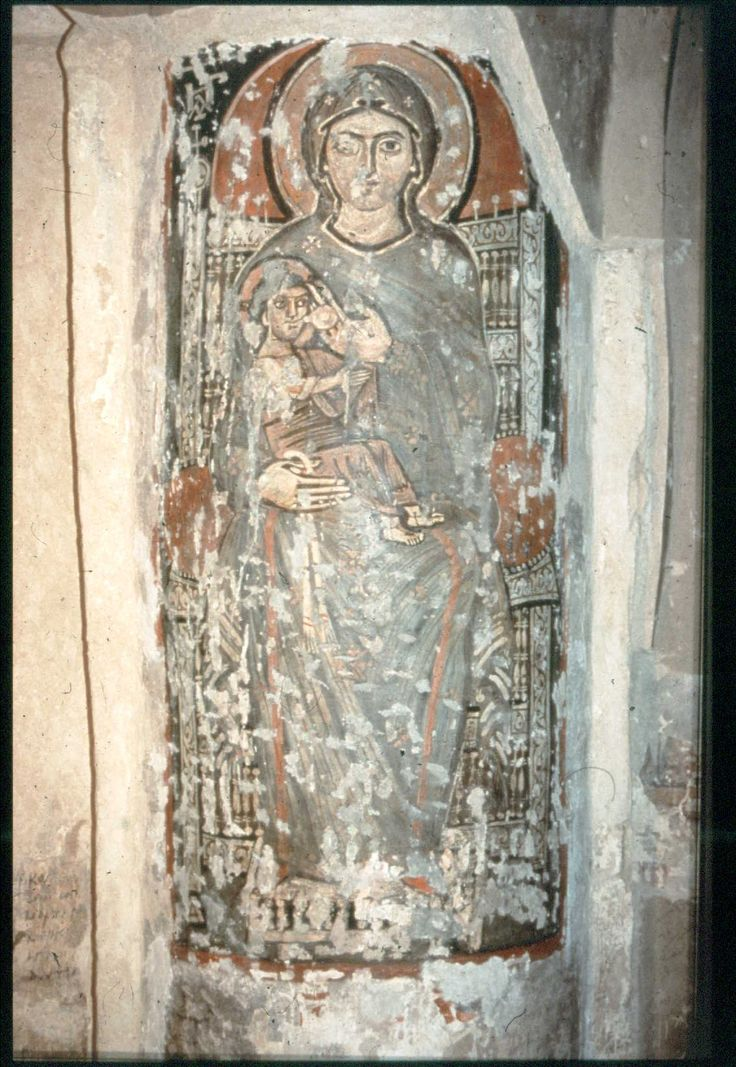 10th century (about) - Virgin and Child, Syrian Monastery Wadi Al-Natrun, Egypt.