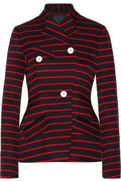 Proenza Schouler - Striped Cotton And Wool-blend Jacquard Blazer - Black