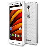 Motorola Droid Turbo 2 Case - MoKo [Anti Drop] Halo Series Back Cover with TPU + Clear PC Back Panel Bumper Cover for Moto Droid Turbo 2 / X Force 5.4 Inch 2015 Smartphone, Crystal Clear
