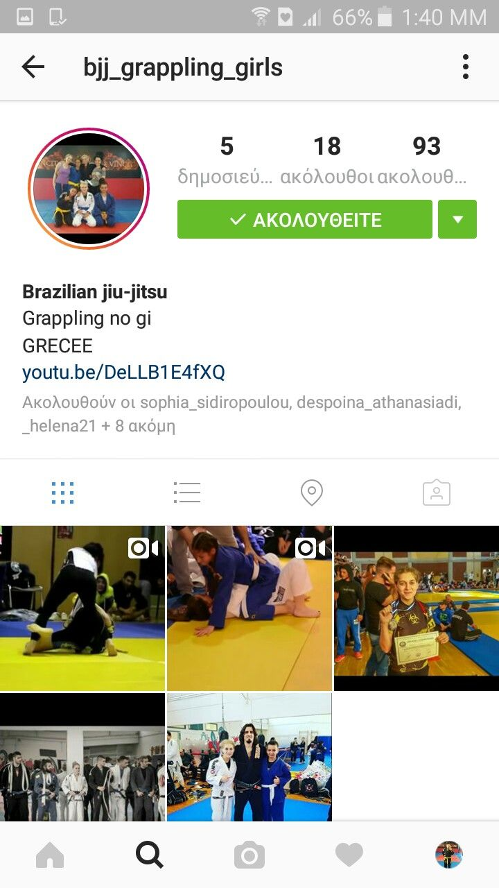 Instagram profile following