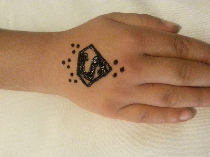 superman henna for boys henna designs pinterest henna boys and superman. Black Bedroom Furniture Sets. Home Design Ideas