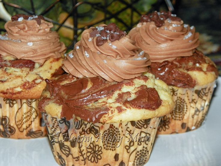 Nutella Cupcakes With Philly Cream Cheese Nutella Frosting Recipe