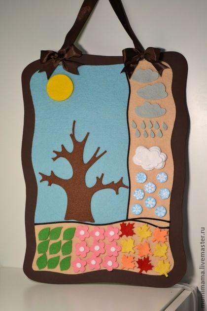 Природный календарь. Природный календарь позволяет не только изучать с ребенком времена года, их смену, погоду, счет, но и развивать мелкую моторику, если ребенок сам раскладывает элементы.       Деталей достаточно, чтобы отобразить…