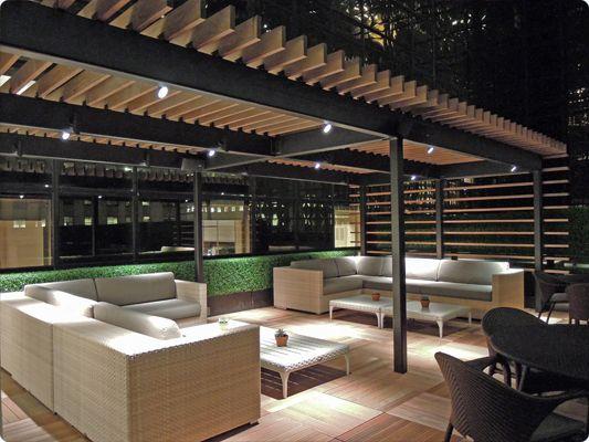 Garden Club Terrace | Wildwood | Landscape lighting ...
