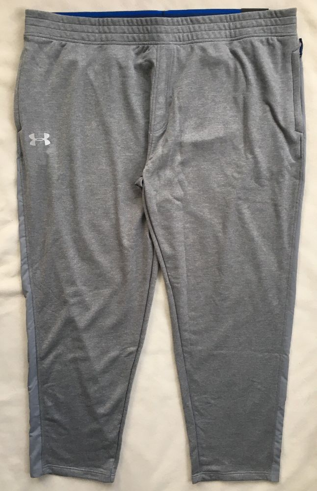 f14e21e47df285 UNDER ARMOUR Mens Tech Terry Loose Athletic Pants Gray 1293939 NWT $50 4XLT  #Underarmour #ActivewearPants