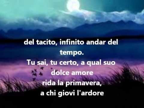 """Giacomo Leopardi: """"CANTO NOTTURNO DI UN PASTORE ERRANTE DELL'ASIA"""""""