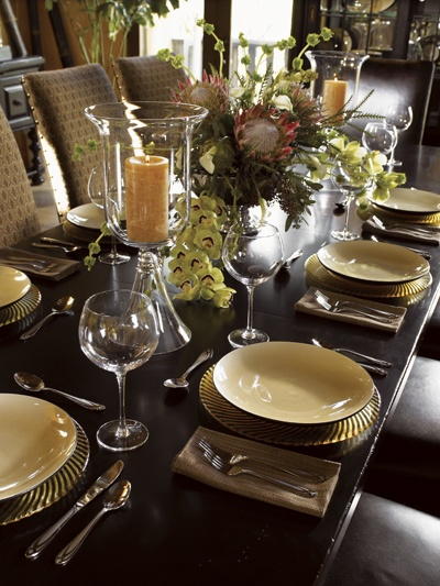 find this pin and more on elegant table settings and decor tommy bahama home dining room - Dining Room Table Settings