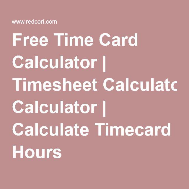 Přes 25 nejlepších nápadů na téma Online Timesheet na Pinterestu - blank time card template
