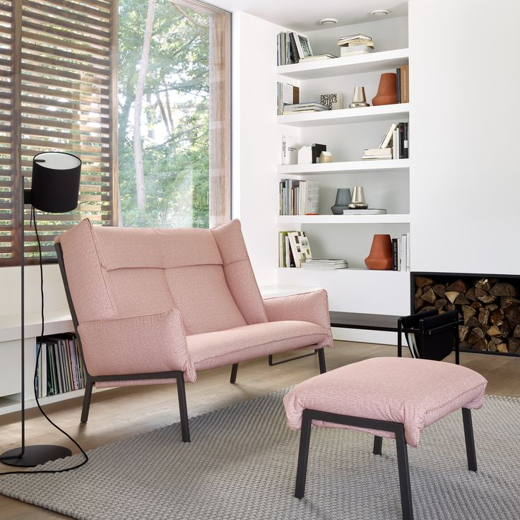 Nice The Beau Fixe Collection Is Elevated On Slender Feet, While The Seat And  The High Soft Backrest Are Framed By The Side Headrests To Envelop The User  In A ...