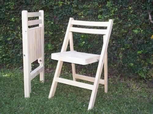 Silla de madera plegable pino seleccionado - Sofas de madera de pino ...