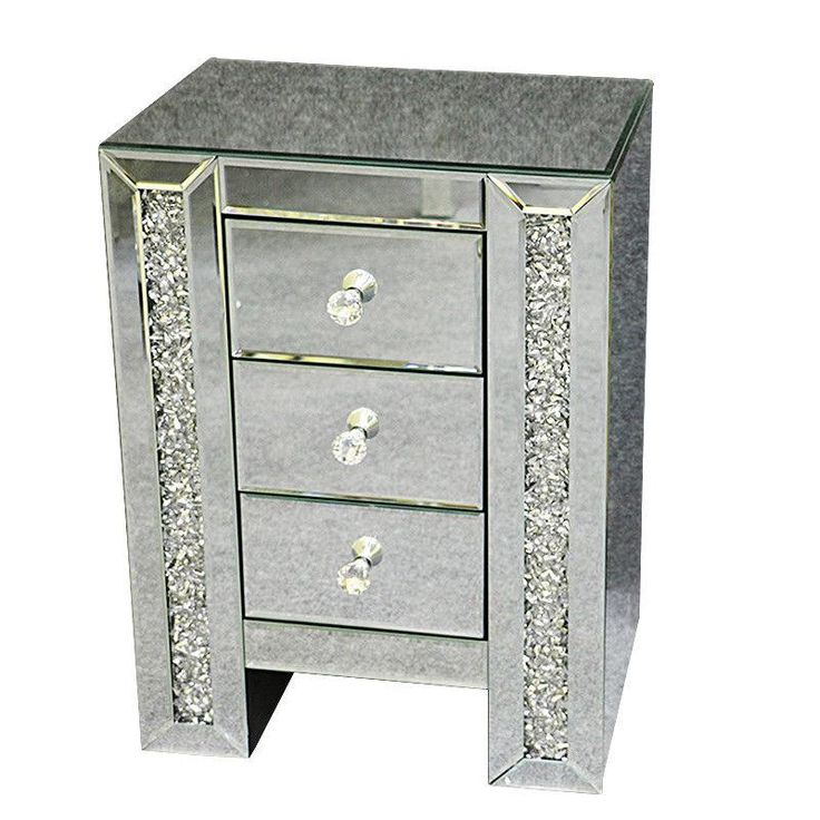 3 Drawer Bedside Table, 3 Drawer Mirrored Bedside Table Very