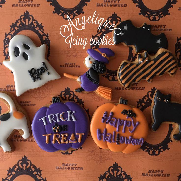Halloween Cookies #angelique #angelique_icing_cookies #handa #handacity #aichiprefecture #icingcookiesalon #halloween #halloweencookies #アンジェリーク #愛知県半田市 #アイシングクッキー教室 #アイシングクッキーサロン #ハロウィン #ハロウィンクッキー