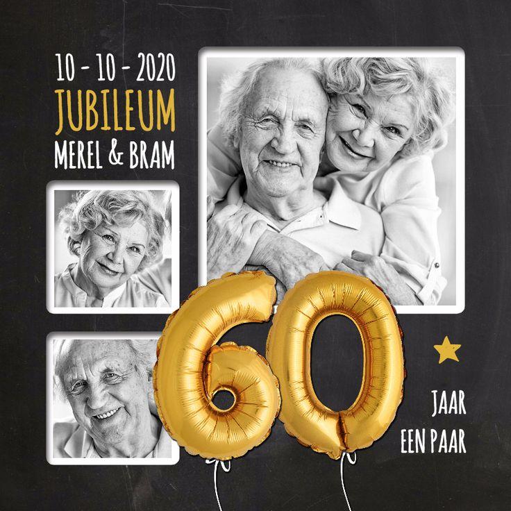 Jubileum 60 jaar ballon SG, verkrijgbaar bij #kaartje2go voor €1,89
