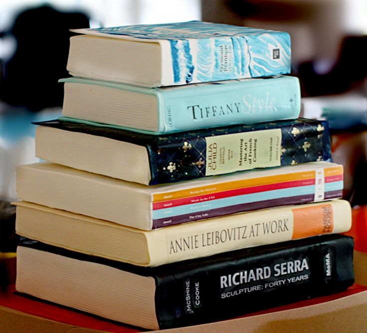 Book stack cake. Looks so real!