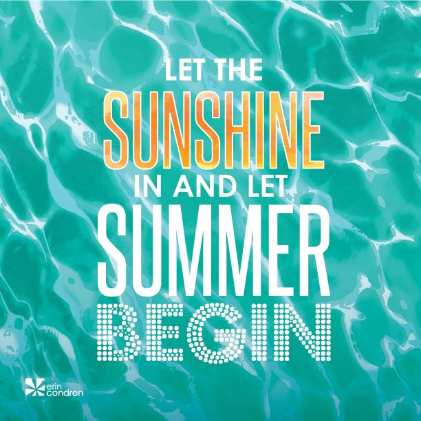 Hip hip hooray, #summer is here to stay! Here's to making it your best summer yet! #MotivationalMonday #ErinCondren #ECquotes #Quotes Hip hip hooray, <a class=