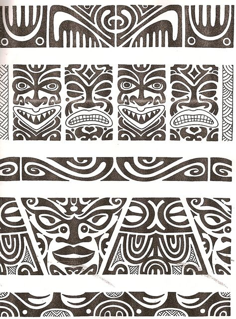Maori tattoo kirituhi  Polinesia Polynesian Tatuaje by Tatuagem Polinésia…