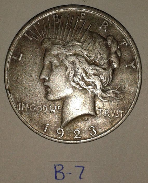 1923 Peace  Silver Dollar coin circulated by RolandDressler, $50.00