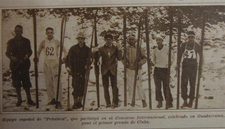 Diario Estampa (1931) - Concursos internacionales de esquí en Guadarrama y Canfranc