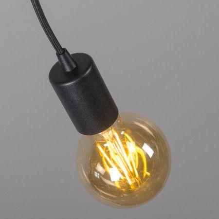Lámpara colgante FACIL 1 negra #iluminacion #minimalismo #decorados