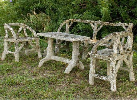 Faux Bois, 19th Century. Antique Furniture RestorationGarden ...